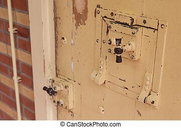 cerradura, viejo, prisión