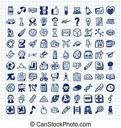 doodle school icons