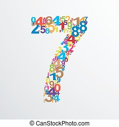 Vector number seven from numbers.