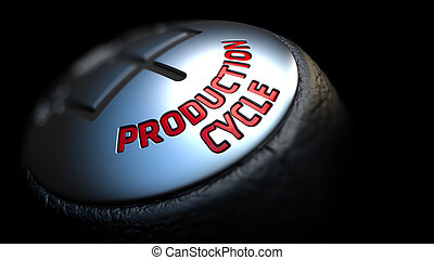 Production Cycle on Black Gear Shifter. - Production Cycle -...