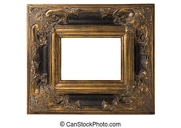 Spanish Baroque Frame - Small black and gold Spanish Baroque...