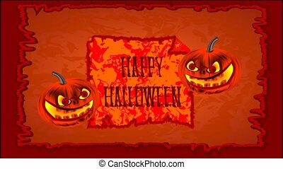 Happy Halloween cheerful pumpkin - Happy Halloween of...