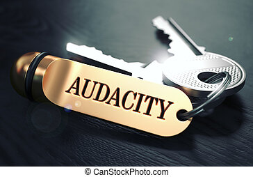 Keys with Word Audacity on Golden Label. - Keys with Word...