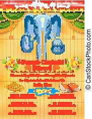 Ganesh Chaturthi event competition banner - illustration of...