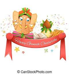 Happy Ganesh Chaturthi - illustration of Happy Ganesh...