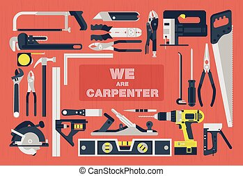 We are carpenter,Home tools flat element