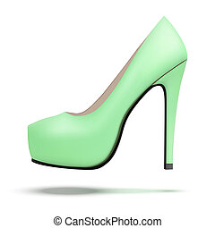 Vintage high heels pump shoes - Green vintage high heels...