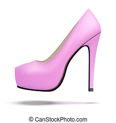 Vintage high heels pump shoes - Pink vintage high heels pump...