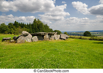 Dolmen. Megalithic tomb in Brittany, France