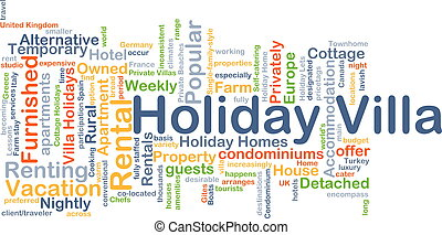 Holiday villa background concept - Background concept...