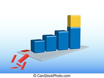 Growth graph with golden cube