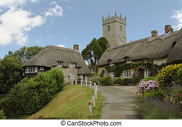Church Hill, Godshill, Isle of Wight - The pretty thatched...