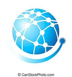 Globe symbol Vector design elements logo