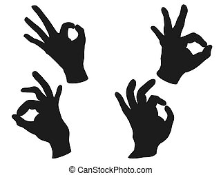 OK hand sign vector - isolated people OK hand sign vector...