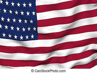 Image of a flag of USA