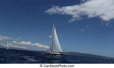 Sailing in the wind through