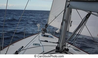 Sailing in the wind through the waves Sailing Luxury yachts...