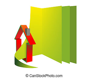 house as a symbol for construction or facility management