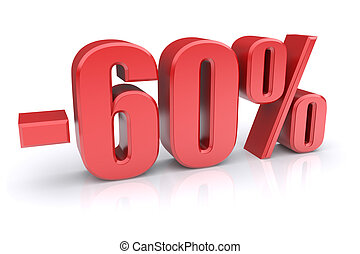 60 discount icon on a white background