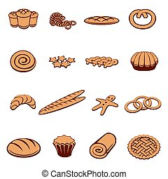 Bakery and pastry icons