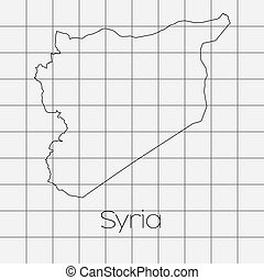 Squared Background with the country shape of Syria - A...