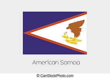 illustrazione, di, il, bandiera, con, nome, di, il, Paese,...