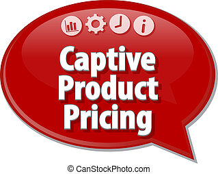 Captive Product Pricing Business term speech bubble...