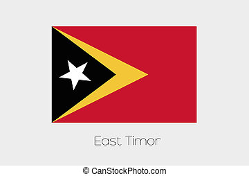 Illustration of the flag, with name, of the country of East...
