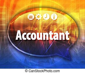 Accountant Business term speech bubble illustration - Speech...