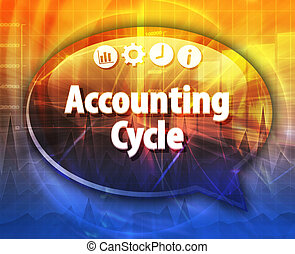 Accounting Cycle Business term speech bubble illustration