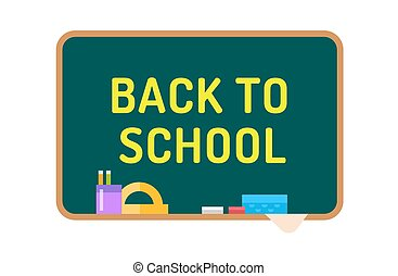 Back to school background Cute cartoon boy and girl - Back...