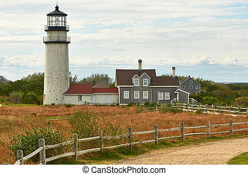 Highland Lighthouse at Cape Cod - Highland Lighthouse,...