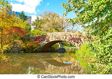 New York City Central Park in autumn