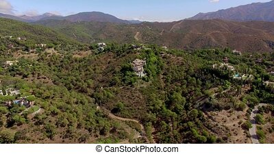 Aerial Beautiful Panorama of Spanish Moundains in Andalucia