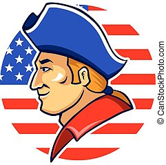 American Minutemen - A vector illustration of American...