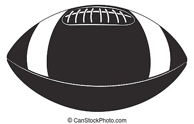 ball for Rugby - Silhouette ball for Rugby Illustration clip...