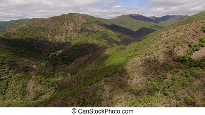 Aerial Beautiful View on Spanish Mountains - Aerial...