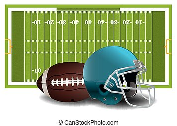 American Football Elements Illustration - A realistic...