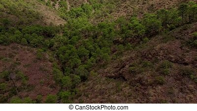 Aerial. Beautiful View on Spanish Mountains - Aerial....