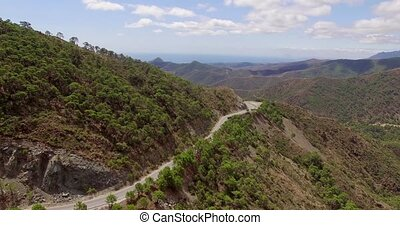 Aerial Curvy Road in Spanish Mountains - Aerial Curvy Road...