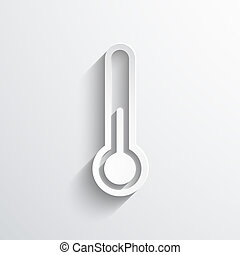 thermometer web icon - thermometer web flat icon...