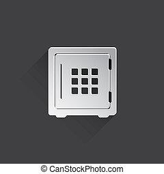 Vector bank safe icon - Vector bank safe web icon