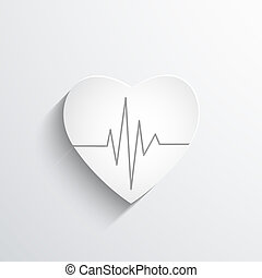 cardiogram or heart rhythm medical icon.