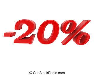 3d image 20 percent off digits