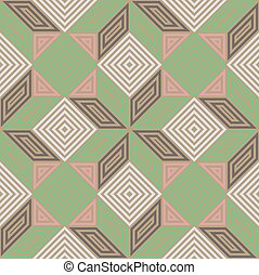 Seamless vector pattern, vintage pastel colours, square mosaic