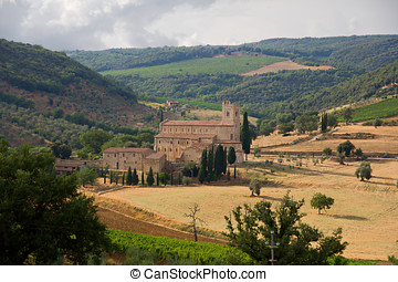 The church of SantAntimo, Siena, Tuscany, Italy