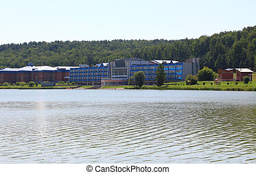 """Sanatorium """"Birch"""" at the lake. Krasnoyarsk region"""