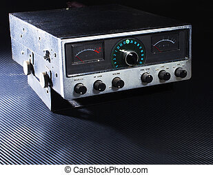 Old two way radio - Citizens band radio that talks on side...