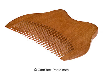 isolated wood comb