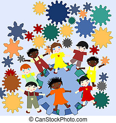 Children -future minds in the world, the concept of children...